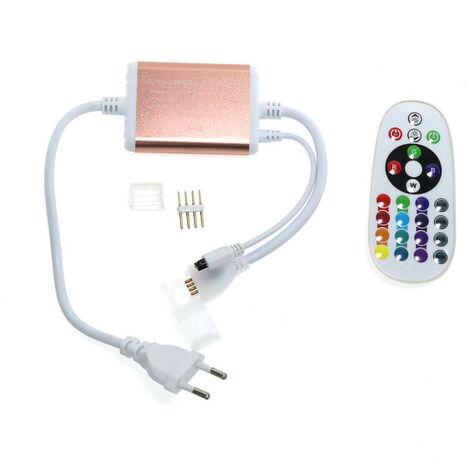 Controlador para Tiras LED RGB 220V 14,4W con Mando Blanco | IluminaShop