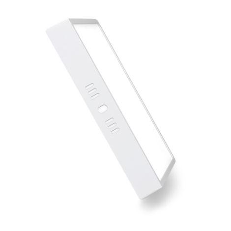 Plafón LED Cuadrado Superficie 12W Blanco 1160LM Blanco Cálido 3000K | IluminaShop