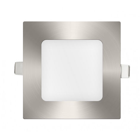 Downlight panel LED Cuadrado Niquel 6W Blanco Frío 6400K | IluminaShop