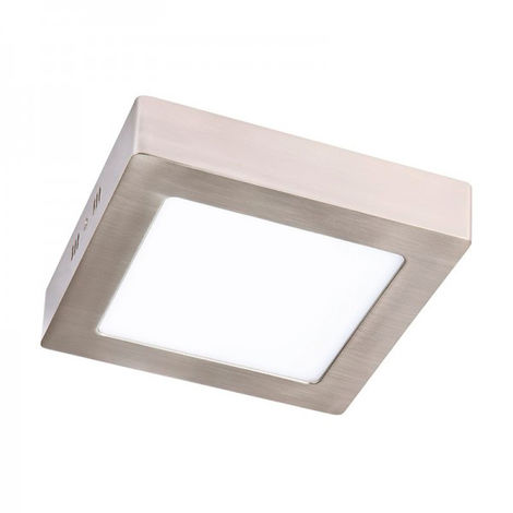 Plafón LED Cuadrado Níquel 12W Blanco Neutro 4000K | IluminaShop