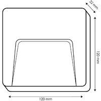 Baliza de Superficie Led Cuadrado Project Negro Antracita 3W IP65 Blanco Neutro 4000K   IluminaShop