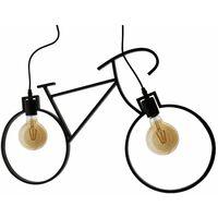 Lámpara de techo Vintage 2L Bicycle 2XE27 Negro   IluminaShop