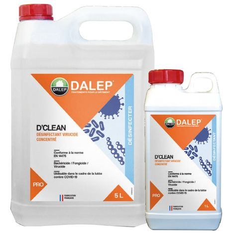DALEP D'Clean Désinfectant virucide concentré 5L