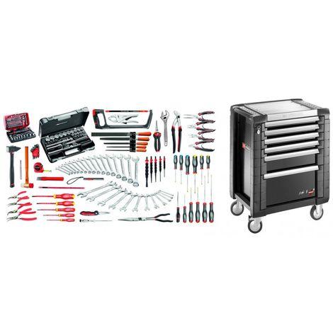 JET6.M130A Sélection maintenance industrielle 165 outils plus servante 6 tiroirs 6 tiroirs