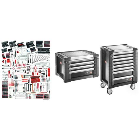 JET8.M160A Sélection maintenance industrielle 528 outils plus servante 8 tiroirs et coffre 8 tiroirs