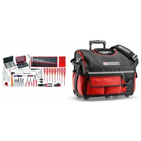 BSR20.EM41A Sélection électromécanique 120 outils plus boîte à outils textile à roulettes 1668.05