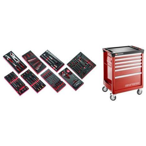 CHRONO6M3.CMAG Sélection de 135 outils pour la maintenance agricole plus servante 6 tiroirs CHRONO 6 tiroirs