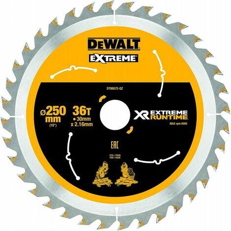 Dewalt DT99572-QZ Lame de scie circulaire stationnaire XR Runtime 250x30mm 36 dents 250/30