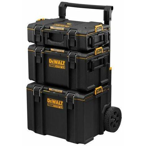Tour TOUGHSYSTEM Dewalt sur roulettes 2 coffrets et boîte à outils mobile contenance totale 118L 410.15