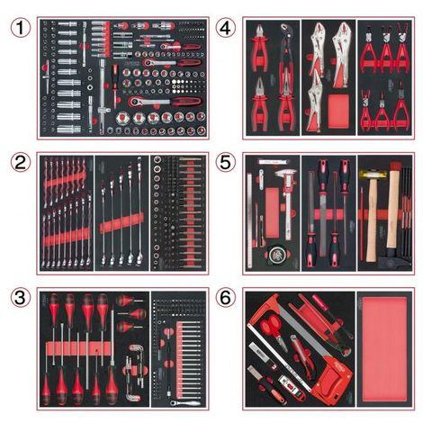 KS TOOLS 714.0452 Composition d'outils 6 tiroirs pour servante, 455 pièces 6 tiroirs