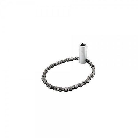 Clé à chaîne pour déposer les filtres à huile de 50 à 110mm 62.81