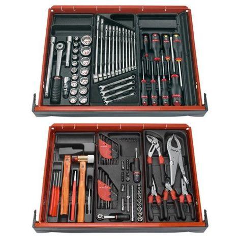 Composition 6 module 3 tiroir d'outils mecanicien servante FACOM 893.50