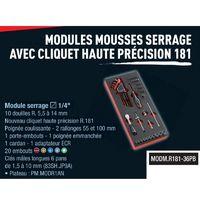 Facom Module mousse Cliquet HP 1/4 et douilles MODM.R181-36PB 1/4