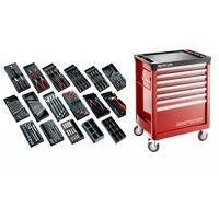 CM.166 Sélection tous métiers 166 outils et servante 7 tiroirs 7 tiroirs