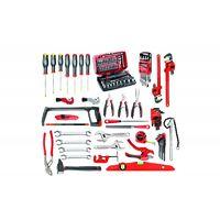 BT11A.M210A Sélection plombier 94 outils plus boîte à outils métal