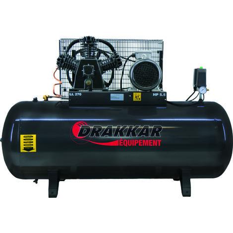 Compresseur a piston 5.5cv 270l tri
