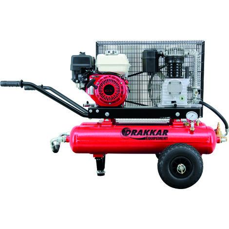 Compresseur thermique style brouette 5.5cv 3.6l moteur honda