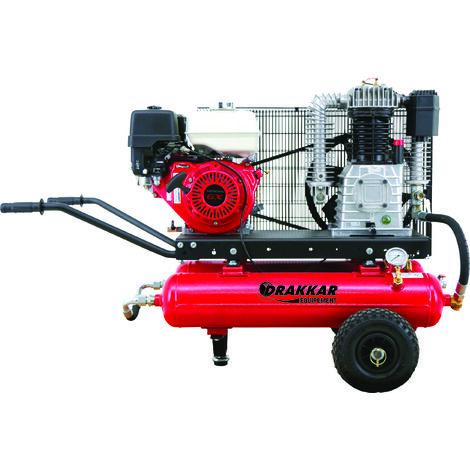 Compresseur thermique style brouette 9cv 3.6l moteur honda