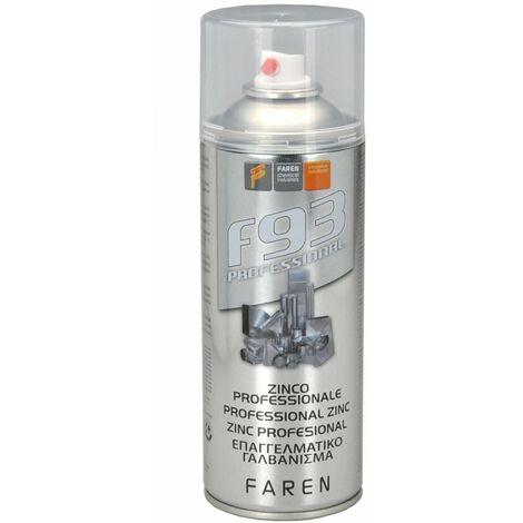 Zinco spray zincante freddo professionale Faren F93 ml 400 alluminio fino 600°C
