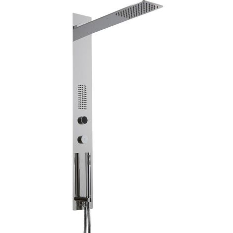 Milano Vis - Modern Concealed Digital Shower Tower Panel with Rainfall Blade Shower Head, Hand Shower Handset and Body Jet - Chrome