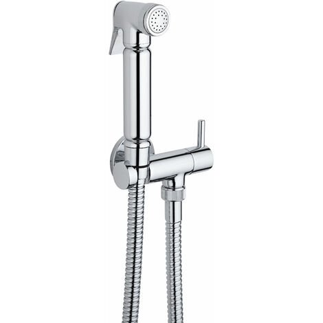 Milano Mirage - Modern Manual Wall Hung Douche Shower Toilet Kit with Wall Bracket - Chrome