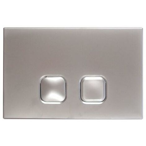 Milano - Modern Chrome Toilet WC Dual Flush Square Button Wall Plate
