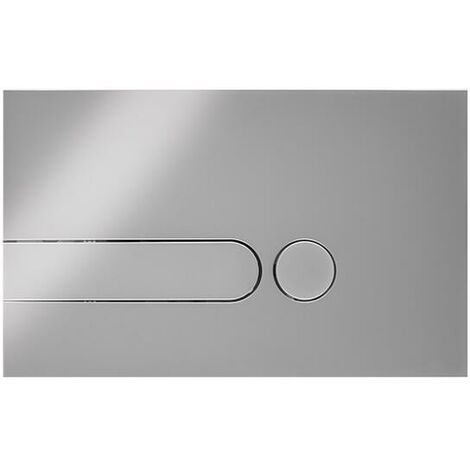 Milano - Modern Toilet WC Dual Flush Square Button Wall Plate - Chrome