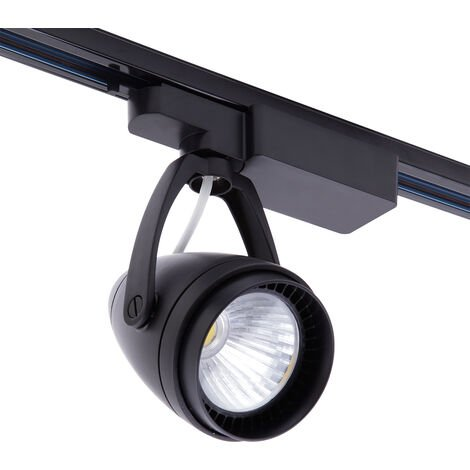 LED 12W Black Track light Tracking Rail Lamp Shop Display Spotlight Natural White