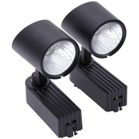 LED 7W Black Track light Tracking Rail Lamp Shop Display Spotlight Natural White