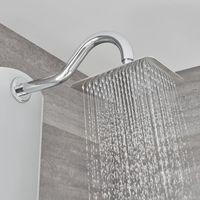 Milano Baya - Modern Exposed Aluminium Thermostatic Shower Tower Panel with Rainfall Shower Head, Hand Shower Handset and Body Jets - Chrome
