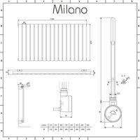 Milano Alpha Electric – 1000W Modern Anthracite Horizontal Single Panel Designer Radiator – 635mm x 1190mm