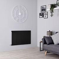 Milano Aruba Electric – 1000W Modern Black Horizontal Single Panel Designer Radiator – 635mm x 1000mm