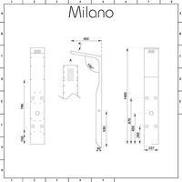 Milano Dalton - Modern Shower Tower Panel with Rainfall Shower Head, Hand Shower Handset and Body Jets – White