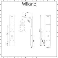 Milano Dalton - Modern Shower Tower Panel with Rainfall Shower Head, Hand Shower Handset and Body Jets – Matt Silver