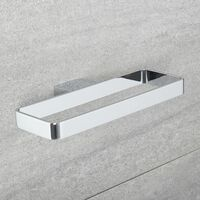 Milano Arvo – Modern Wall Mounted Square Ring Bathroom Towel Holder - Chrome