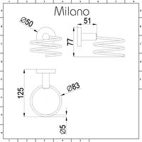 Milano Mirage - Modern Round Coiled Wall Mounted Bathroom Hair Dryer Blower Holder - Chrome