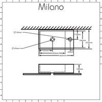 Milano Dalton - Modern White Ceramic Rectangular Countertop or Wall Mounted Counter Top Basin - 400 x 220 mm