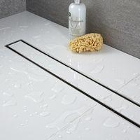 Milano - Tile Insert Linear Stainless Steel Shower Drain - 400mm Channel