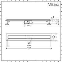 Milano - Tile Insert Linear Stainless Steel Shower Drain - 600mm Channel