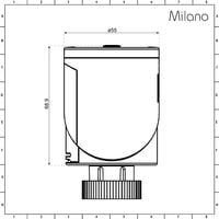 Milano Connect - WiFI Smart Heating Thermostatic Radiator Valve TRV - Google Home and Amazon Alexa Compatible
