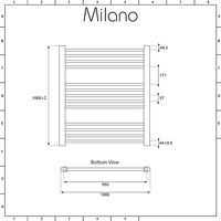 Milano Ive - Modern White Dual Fuel Electric Flat Heated Towel Rail Radiator - 1000mm x 1000mm