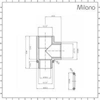 Milano Arno - Modern White Dual Fuel Electric Bar On Bar Heated Towel Rail Radiator - 1738mm x 600mm