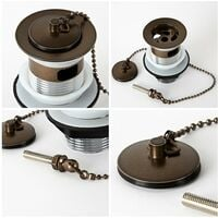 Milano Rosso - Traditional Basin Waste with Plug and Ball Chain - Oil Rubbed Bronze