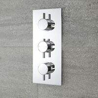 Milano Mirage – Modern 2 Outlet Triple Thermostatic Concealed Mixer Shower Valve - Chrome