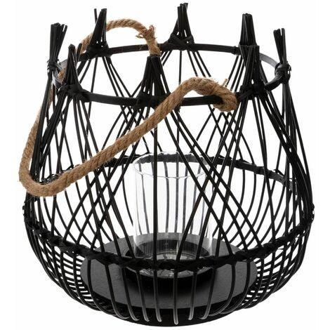 Lanterne Panier Terre Noir - Atmosphera - Noir