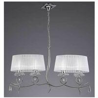 Lámpara lineal de 4 luces con dos pantallas ovaladas LOUISE de Mantra
