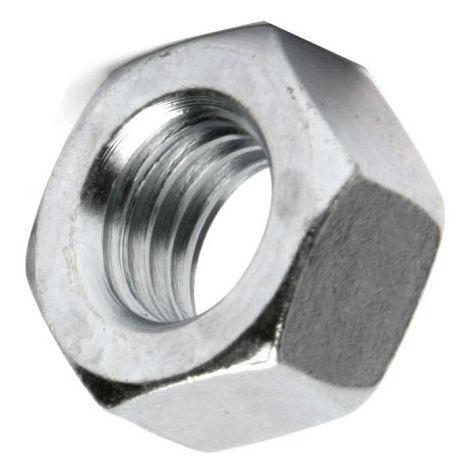 M6 Hex Nut - Bright Zinc Plated (BZP) DIN934 - Left Hand Thread