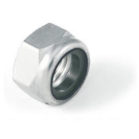 M6 Thin type nylon insert lock nut Nyloc Type. A4 stainless steel DIN985