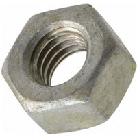 UNC Hex Nut 1/4 inch - Galv Mild Steel - BS 1768 - Tapped Oversize