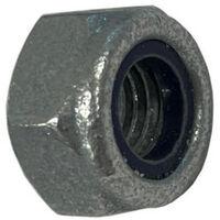 M6 Nylon Insert Lock Nut Nyloc Type - Galvanised Steel DIN985